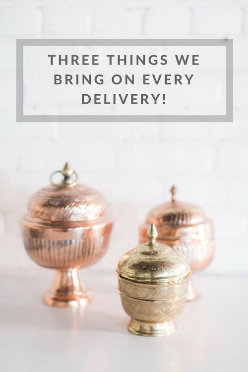 Delivery Must-Haves for a Specialty & Vintage Rental Company from Paisley & Jade!