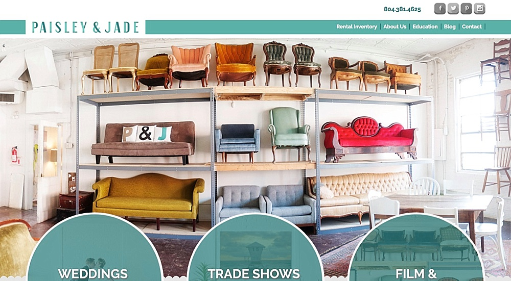Bon Paisley And Jade Eclectic And Vintage Furniture Rentals For Trade Shows  Weddings Corporate Events And Film