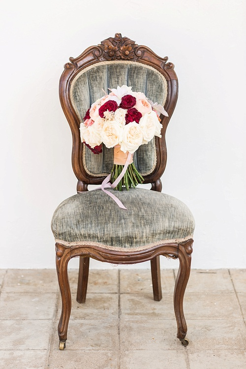 Romantic marsala inspired wedding at Alwyngton Manor in Virginia with vintage and specialty furniture rentals provided by Paisley and Jade