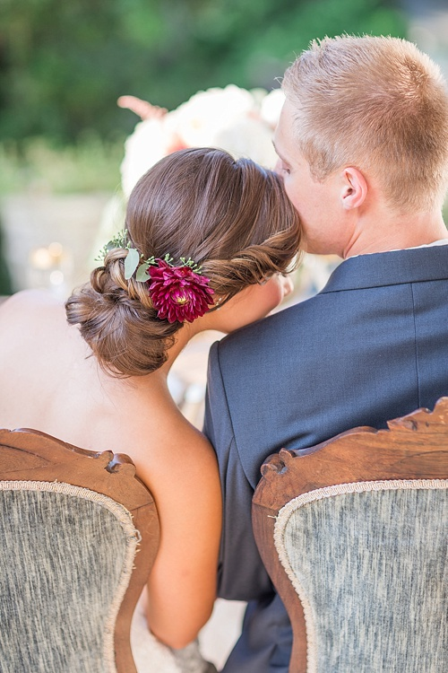 View More: http://jessgreenphotography.pass.us/fall-styled-shooRomantic marsala inspired wedding at Alwyngton Manor in Virginia with vintage and specialty furniture rentals provided by Paisley and Jade