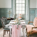Romantic pastel wedding inspiration at Salubria with eclectic and vintage furniture rentals by Paisley and Jade