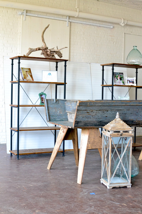 inspiration station-boat bar - beadboard - wooden industrial shelf - trade show (2 of 16)