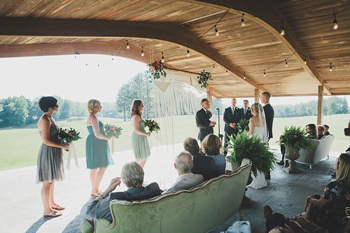 Gorgeous outdoor wedding at Independence Golf Club with vintage and eclectic rentals by Paisley and Jade