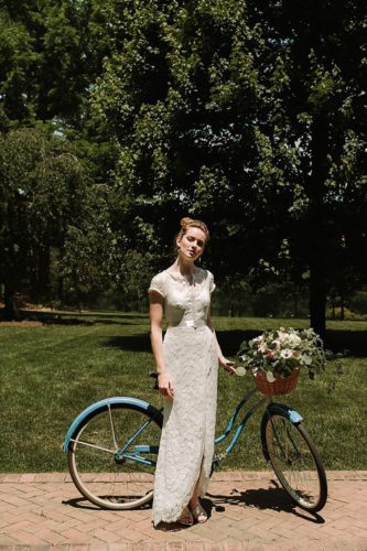 Wedding dress collection for Lace and Liberty look book with vintage rentals by Paisley and Jade