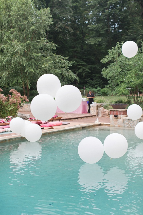 Gorgeous girl's night out pool party in Leesburg with specialty rentals by Paisley and Jade