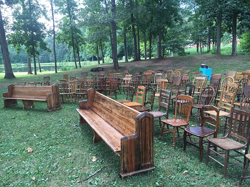 Wood Chairs Outdoor Ceremony: Vintage Seating Now Has A New Look