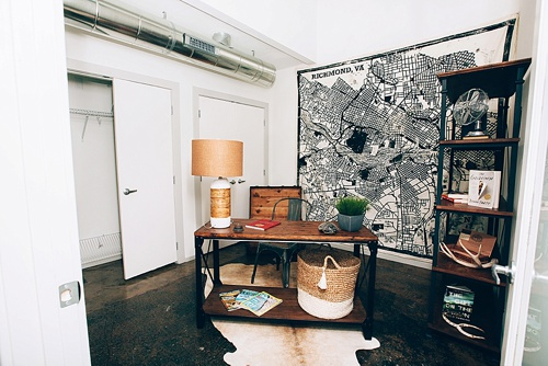Swanky loft styling with specialty vintage and eclectic rentals for home staging by Paisley and Jade
