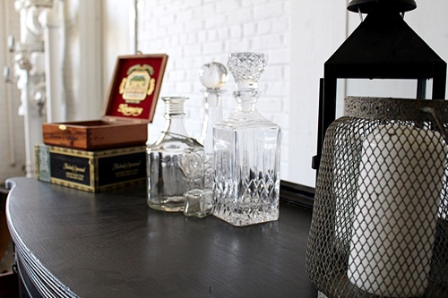 Simple and sophisticated cigar bar and whiskey lounge created with specialty rental times by Paisley and Jade