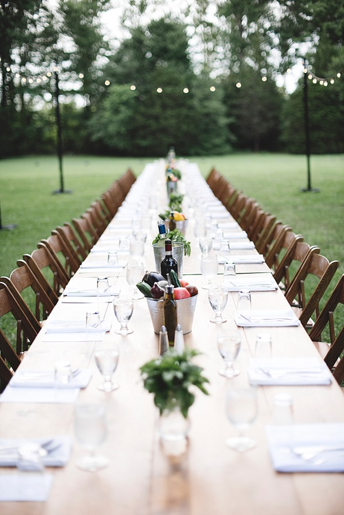 Dinner In The Field in Virginia with specially vintage and custom built rentals by Paisley and Jade