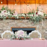 Beautiful blush wedding styled shoot at Ashton Creek Vineyards with specialty rentals by Paisley and Jade