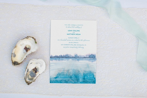 Charming oyster inspired wedding styled shoot at Seven Springs Farm with specialty and vintage rentals by Paisley and Jade