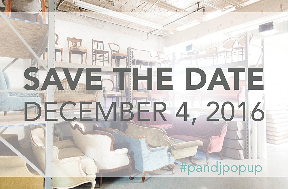 Save the Date Paisley and Jade Pop Up Shop December 4th 2016 at Highpoint and Moore