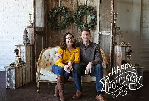 Sweet holiday photo shoot with Moonrise Photography with prop rentals and space by Paisley and Jade