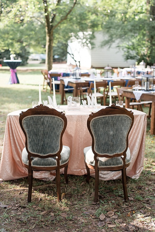 Classic real wedding at Tuckahoe Plantation with specialty furniture rentals by Paisley and Jade