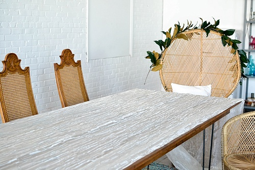 Inspiration Station styling and design by Paisley and Jade at Highpoint and Moore created with all furniture and decor pieces curated and available for rent at P&J