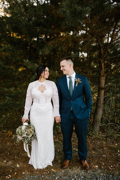 Moody and romantic real wedding at The Glasgow Farm in Fredericksburg, Virginia with specialty rentals by Paisley and Jade