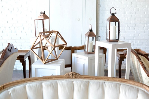 Inspiration Station by Paisley and Jade four sided vintage lounge area great for weddings or corporate events