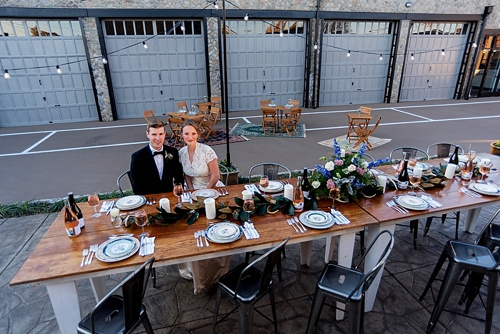 Urban wedding inspiration at Blue Bee Cider in Richmond, Virginia with specialty rentals by Paisley and Jade