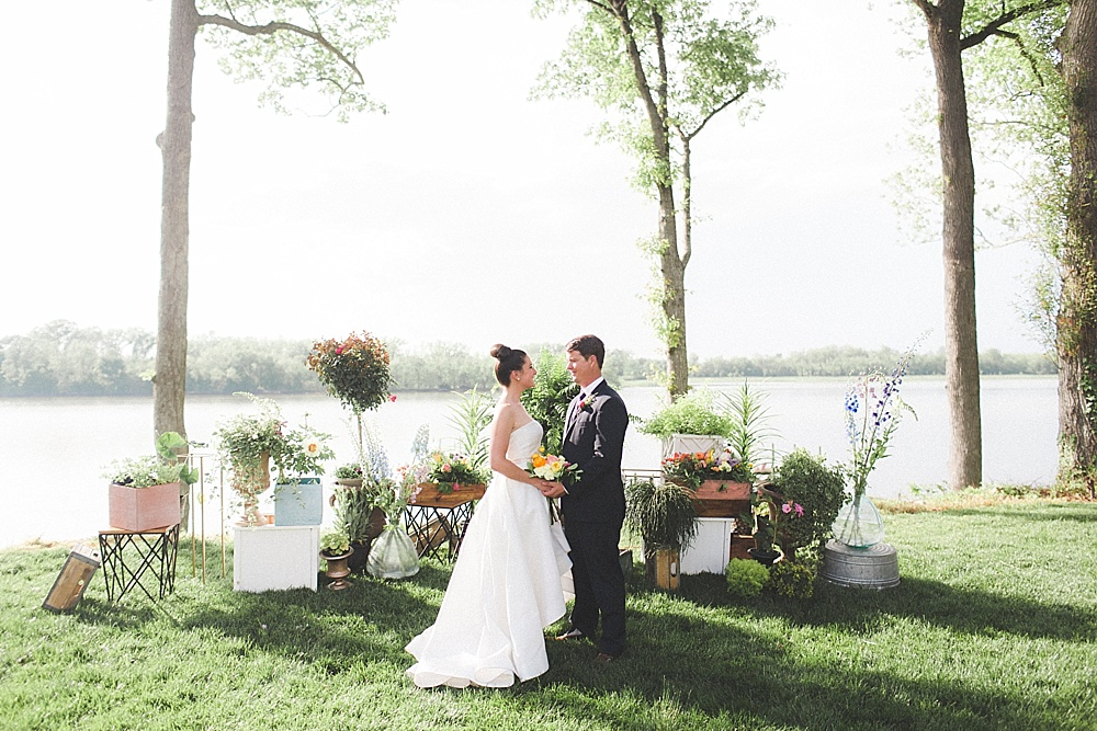 Styled shoot at Upper Shirley Vineyards featuring specialty rentals by Paisley & Jade