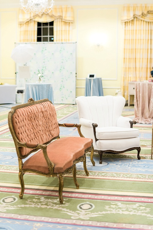 Southern Wedding V9 Launch Party at The Carolina Inn in Chapel Hill NC with specialty furniture and decor rentals by Paisley & Jade