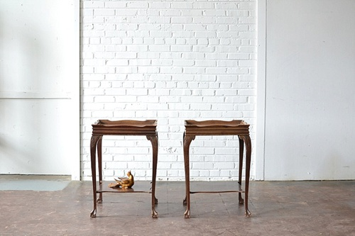 Vintage Decorative End Tables available for rent by Paisley & Jade