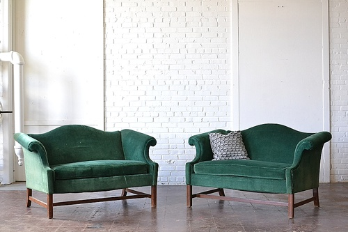 Vintage Turner Sofas available for rent by Paisley & Jade