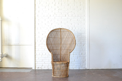 Wicker Peacock Chair available for rent by Paisley & Jade