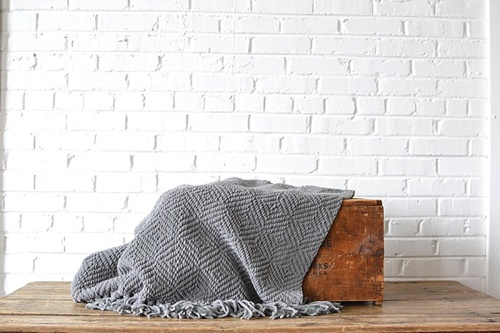 Gray Throw available for rent by Paisley & Jade