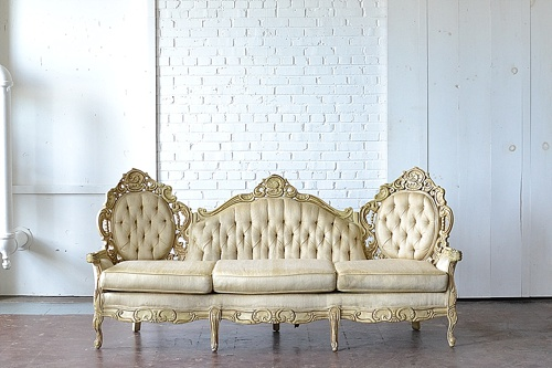 The Provence Sofa available for rent by Paisley & Jade