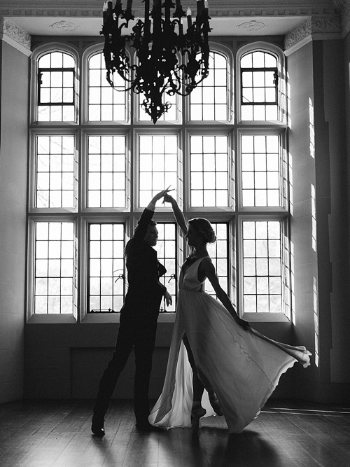 Moody ballet inspired shoot by Josh & Serena at The Branch Museum of Architecture & Design with specialty rentals by Paisley & Jade