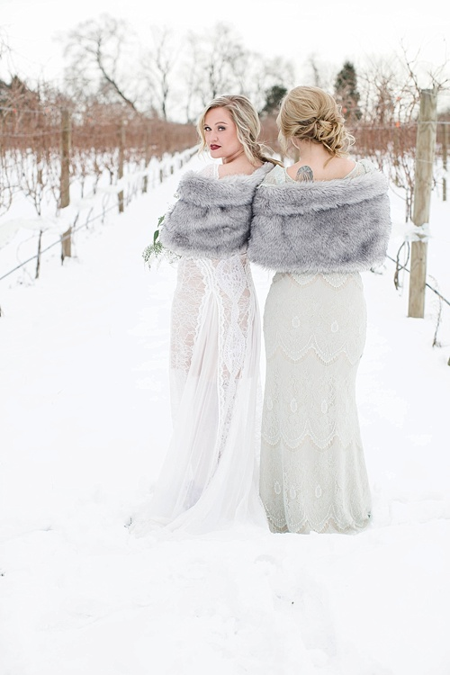 Winter boho chic styled shoot at Upper Shirley Vineyards with specialty rentals by Paisley & Jade