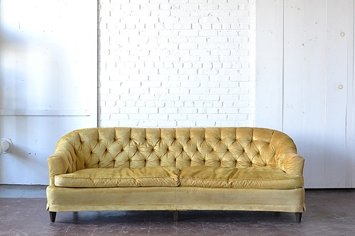 "Vintage ""Delta"" sofa available for rent by Paisley & Jade"