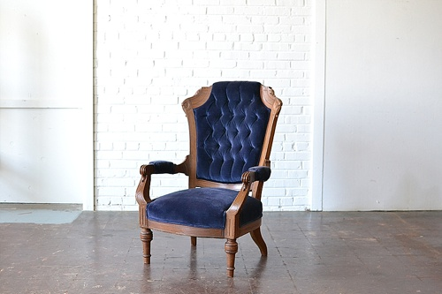 Vintage Nottingham chair available for rent by Paisley & Jade