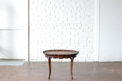 Vintage Scalloped Edge Coffee Table available for rent by Paisley Jade