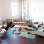 Mid-Century Modern lounge package available for rent by Paisley & Jade