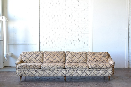 Mid-Century Modern sofa named The Barnegat available for rent by Paisley & Jade