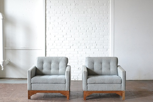 Mid-Century Modern Westchester chairs available for rent by Paisley & Jade
