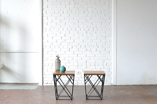 Modern End Tables available for rent by Paisley & Jade