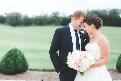 Samantha & Ben's elegant real wedding at Dover Hall with vintage and specialty rentals by Paisley & Jade