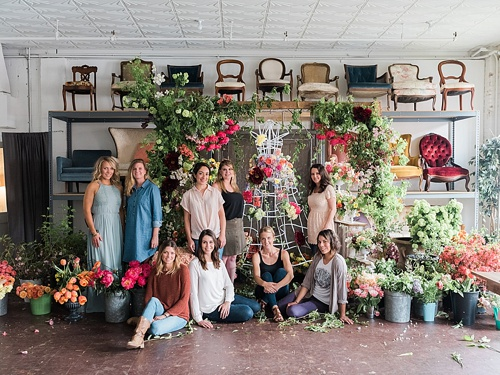 Tulipina floral workshop at Highpoint & Moore with specialty rentals and space by Paisley & Jade. Images by Corbin Gurkin