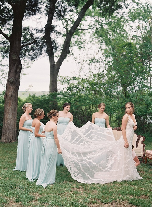 Outdoor summer wedding with vintage and specialty rentals by Paisley & Jade.