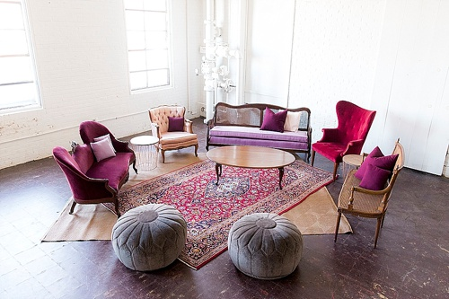 Beautiful Bordeaux Lounge Package available for rent by Paisley & Jade