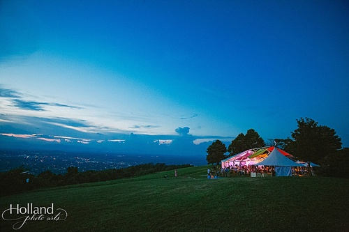 Eclectic and colorful mountaintop wedding in Charlottesville with specialty rentals by Paisley & Jade