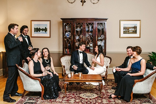 NYE wedding at The Commonwealth Club in Richmond, Virginia with specialty and vintage rentals by Paisley & Jade. Image by Kim Stockwell Photography