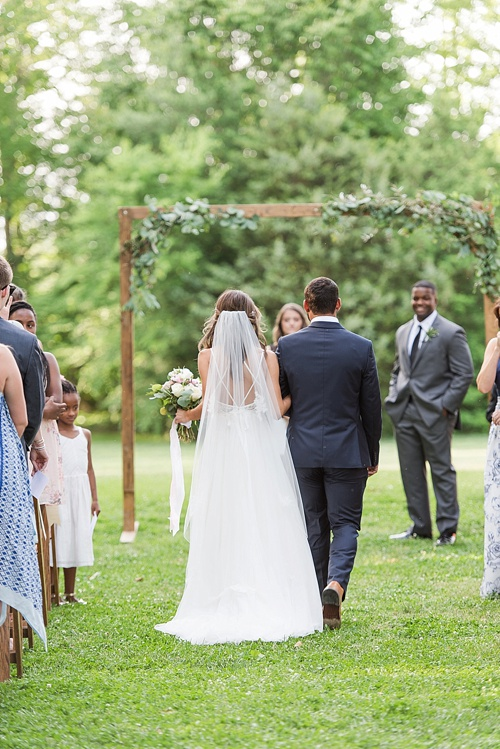 Beautiful pastel outdoor wedding at Seven Springs Farm with specialty and vintage rentals by Paisley & Jade