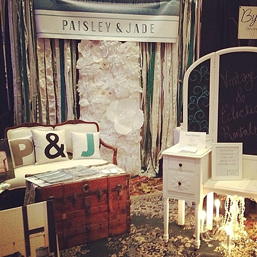 Paisley & Jade participates in bridal shows and showcases their vintage and specialty rental inventory to potential brides and other clients!