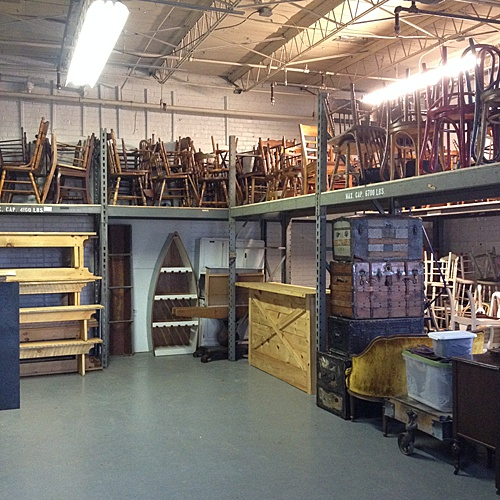 The Warehouse space at Highpoint & Moore was perfect for Paisley & Jade's vintage and specialty rental inventory and much bigger than the storage unit!
