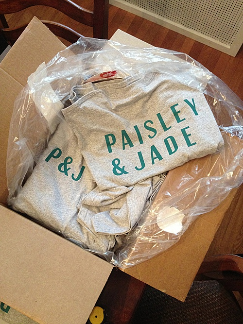 Paisley & Jade t-shirts made it in year 2! People were starting to learn the name of the vintage and speciality rental company based in Richmond, VA.