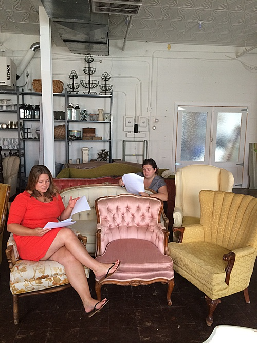 An office meeting (or party) wouldn't be complete without Paisley & Jade co-captains relaxing on some upholstered furniture!
