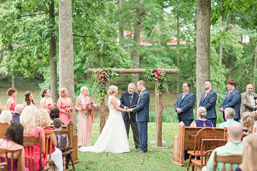 Indoor Or Outdoor Wedding Ceremony Some Facts To Help You: Ashley & Justin Tie The Knot